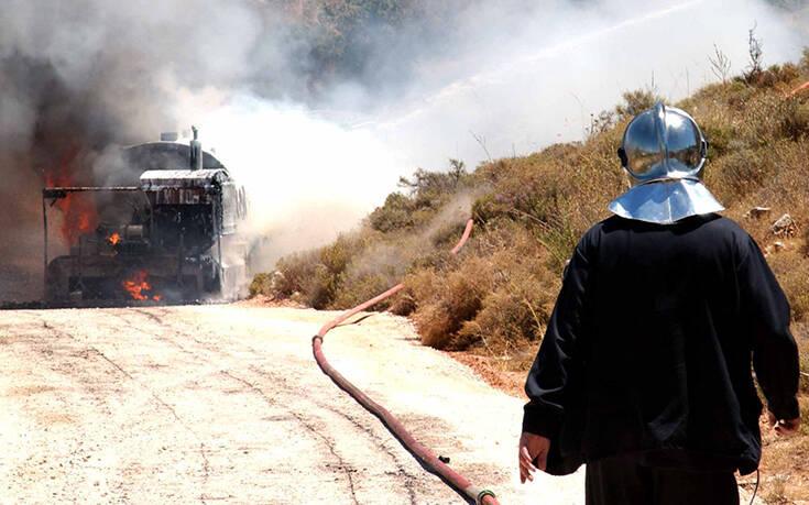 Πέθανε ο οδηγός του βυτιοφόρου που κάηκε στην εθνική οδό Αθηνών – Θεσσαλονίκης