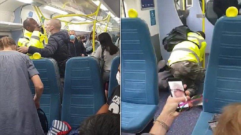 Αγριο ξύλο σε τρένο  επειδή επιβάτης δεν φορούσε μάσκα [ΒΙΝΤΕΟ]