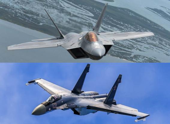 Κόβει την ανάσα: Τι συμβαίνει όταν F-22 συναντούν Su-35 (Video)