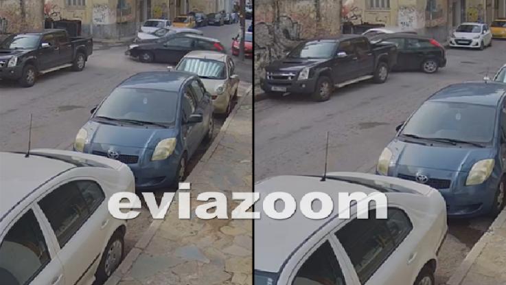 ΑΠΙΣΤΕΥΤΟ ΤΡΑΚΑΡΙΣΜΑ:Παραβίασε το stop και διέλυσε δυο αυτοκίνητα![βιντεο]