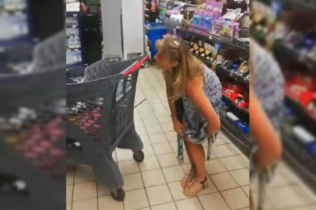 Για να μην τη διώξουν από το σούπερ μάρκετ, έβαλε για μάσκα το εσώρουχό της (ΒΙΝΤΕΟ)