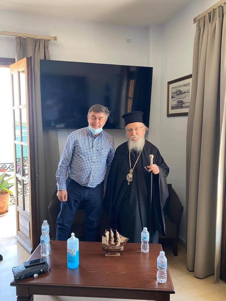 Συνάντηση του Δημάρχου Ακτίου Βόνιτσας  με τον Σεβασμιότατο Μητροπολίτη Αιτωλίας και Ακαρνανίας  κ.κ. Κοσμά
