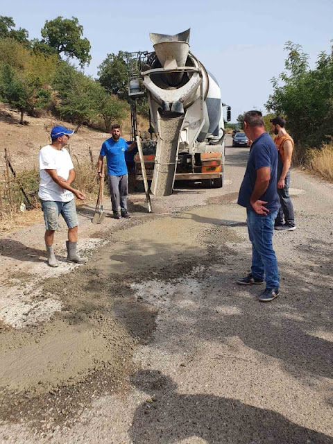 Παρέμβαση για την συντήρηση του δρόμου Χρυσοβίτσα- Διασταύρωση Πηγάδια από το Δήμο Ξηρομέρου και εθελοντές.